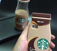 apple cups - 3D Starbuck Cartoon For Apple IPhone s Plus For Galaxy Cell Phone Cases Silicon Starbuck Coffee Cup Durable Mobile Phones Case
