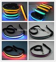 batteries traction - 10pcs LED Luminous Traction Belt lighting Modes Width cm Led Pet Leashes Battery Pre installed Blinking Led light Dog Belts order lt no
