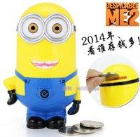 Wholesale 240pcs new Despicable Me Minion Piggy bank Fancy creative toys Can print custom LOGO piggy bank DHL