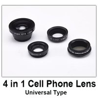 Wholesale good quality in mobile phone lens kit cell phone fish eye lens macro wide angle lens cpl circular filter universal type