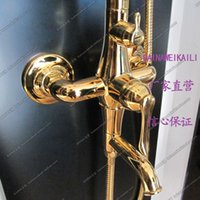 Wholesale New Listing export trade titanium gold antique copper shower faucets shower sets straight bar