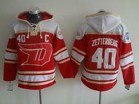 Wholesale zetterberg Jersey Detroit Red Wings Jersey Hoodies Hockey Jersey Sport Jerseys Embroidery Logos Red Top Quality
