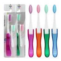 alternative factory - factory cheap promotional alternative travel goods portable folding toothbrush ware adult soft bristle toothbrush