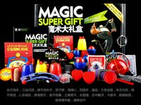 Wholesale Magic super gift Boutique Magic box children choiceness Gift Set magic props with reticule A variety of magic props