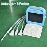 Wholesale USG explorador ultrasonico laptop ultrasound scanner A5 LCD ultrasound abdonimal scanner for human use with any three probes