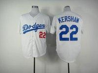 Cheap White Dodgers #22 Clayton Kershaw Jersey Cheap Baseball Jerseys High Quality Baseball Wear Hot Sale Athletic Sports Shirts Men's Jerseys
