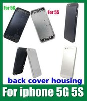 key covers - cell phone housing for iphone s with side key and glass replaceable battery housing door cover case For iPhone G and S SNP002