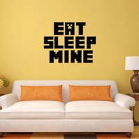 Wholesale Minecraft Wall Stickers Living Room Decoration Cute Minecraft Letter Word Wallpaper Christmas decoration