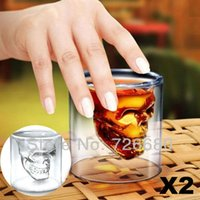 Wholesale Christmas Gifts Crystal Skull Head Vodka Shot Glass Drinking Ware for Home Bar
