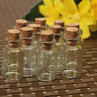 Wholesale 20PCS x13mm Hot Fashion Small Cute Mini Wishing Cork Stopper Glass Bottles Vials Jars Containers Size