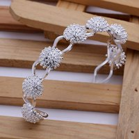 Wholesale 925 silver bangle fashion jewelry fireworks bangle Nickle free antiallergic factory price B141