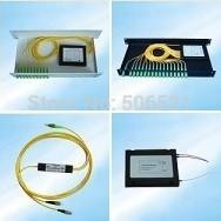 Wholesale x2 box type Fiber Optical FBT Splitter SC FC ST LC PC APC UPC connector Coupler Plastic Box EPON BPON GPON splitter