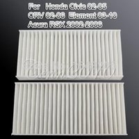 Wholesale Set of Filters Cabin Air Filter FOR Honda For Civic Hybrid CR V Element For ACURA RSX small order no tracking