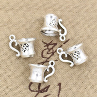 antique teacups - 80pcs Charms teacup mm Antique Zinc alloy pendant fit Vintage Tibetan Silver DIY for bracelet necklace