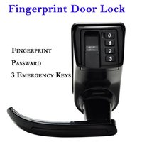 Wholesale NEW Electronic Biometric Fingerprint Door Lock With Emergency Keys Easy To Use