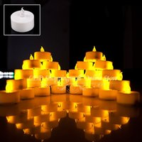 electronic candle - LED Smokeless Flickering Battery electronic Candles Tea Light inch Christmas holiday decoration