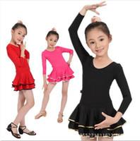 Wholesale Princess Girls Swan Ballet Latin Dance dress Girls Strap Dancing show Clothes girls gauze Party dress girls gift Free ship