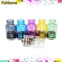 Wholesale Fishbone RDA Colorful Pyrex Glass Tubes RDA Vaporizer Tank e Cigarette Rebuildable Dripping Atomzier Newest Design Unique Glass RDA