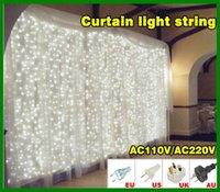 tree face - Curtain lights M x M LED M LED LED Christmas xmas String Fairy Wedding Curtain Lights Light Lamp Lighting Freeshipping