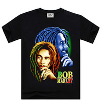 Regular anti super - super t shirt with D BOB MARLEY print personality US size available quality high t shrit cheap sale