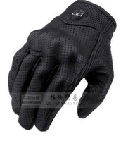 Wholesale top quality New ICON Goat Leather Pursuit Gloves Racing Bike Sport Cycling Motorcycle Full Finger Gloves Size M L XL