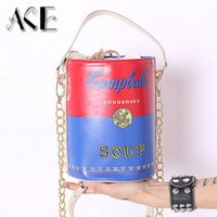 american beverages - European and American fashion personality bucket bag beverage modeling package chain shoulder bag ladies handbag messenger bag