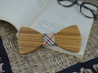 railroad ties - 50 Piece neckties Wooden Bow Ties ties for wedding Wood Railroad ties Gentleman ties High Quality Cheapest Bow Tie