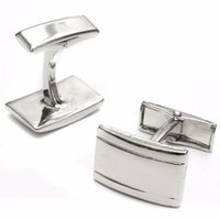 Wholesale NEW Besrt Promotion Fashion Design Mens Silver Pure Metal Business Shirt Rectangle Wedding Cufflinks NEW
