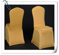 Wholesale Hot Sale Gold Chair Cover amp Banquet Chair Cover amp Spandex Chair Cover