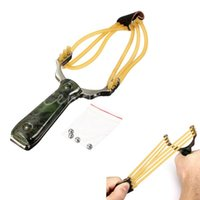 Wholesale 2014 Brand New Top Quality Powerful Steel Slingshot Catapult Outdoor Marble Games Hunting Sling Shot