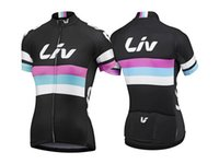 Wholesale Hot Top Quality Cheap Cycling Jersey Women Short Sleeve Tops Cycling Clothing Team LIV Cycling Shirts Mujer Maillot Ropa