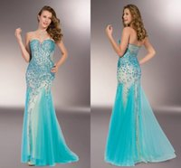 Cheap New Arrival 2015 Sexy Sweetheart Strapless Aqua With Nude Dress Floor -Length Prom Dresses Party Dresses Evening Dresses Crystal