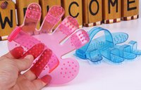 Wholesale Cheap Wholesale Pet Products - Wholesale-Hot Selling Plastic Five Fingers Pet Washing Brush Cheap Fashion Two Colors