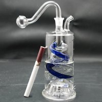 features - Beautiful glass pipes featured with lamp and glass filter pot for fashion smoking glass water pipes