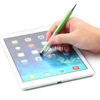 Wholesale 2 PcsTouch Screen Stylus Ballpoint Pen for iPhone Smartphone Crystal in1