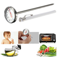 Wholesale Waterproof Degree Stainless Steel Milk Meat Food Kitchen Cooking Oven Instant Read Probe Dial Temperature Thermometer