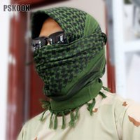 Wholesale Military Muslim Hijab Shemagh Tactical Desert Arabic Keffiyeh Scarf Cotton Thickened Wargame Arab Scarf