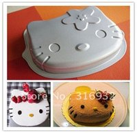 Wholesale D3 Hello Kitty Cake Pan Mould For Jelly Chocolate Pudding And Cupcake
