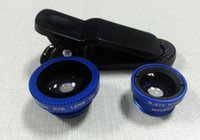 Wholesale Best selling Universal in1 Clip On Fish Eye Lens Wide Angle Macro Mobile Lens For iPhone Samsung Galaxy S4 S5 All Phones fisheye