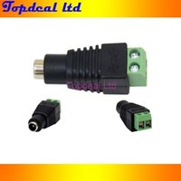 Wholesale 10 Pairs Male and Female x5 mm DC Power Plug Jack Adapter Connector for CCTV