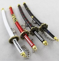 Wholesale 4pcs Collectible crafts Japanese Doll Miniature Katana Samurai Sword w Scabbard and Stand key chain Not sharp cm