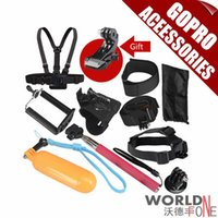 Wholesale Newest Gopro Accessories For Sj4000 Go pro Hero Floating Bobber Selfie stick Monopod Hand Head Chest Strap Adapter