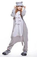 Wholesale Lovely Totoro Animal Costumes Kigurumi Pajamas Cosplay Halloween Long Sleeve Romper Cartoon Jumpsuits Unisex Animal Sleepwear