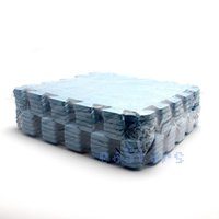 baby floor mat - Free Shiping Pack Blue Color Baby Kids EVA Plastic Foam Interlock Crawling Mat Seamed Rug Splice Play Floor Puzzle Mat
