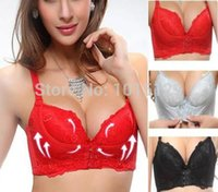 Cheap Wholesale-Super Boost Front Closure A B Cup Push Up Bra Gel Padded Side Support Plunge Hot