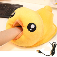 Wholesale winter wrist pad super adorable Plush warm thickened USB hand warmer mouse pad
