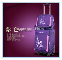 Wholesale high quality Embroidered caster trolley board chassis suitcase wedding box Imports of Oxford