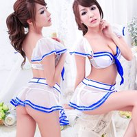 Wholesale Sexy lingerie uniform temptation role playing classic old models backless dress students Sex Toys