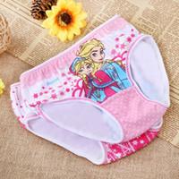 children in underwear - 2015 New Baby Girls Cotton Triangle Panties Cartoon Popular Children Underwear Elsa Princess Print Briefs Kids Shorts In Stock
