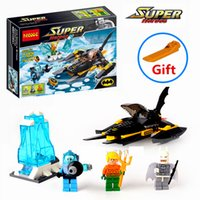 Wholesale Arctic Batman VS Mr Freeze Aquaman on Ice Building Blocks Minifigures Toy Gift without retail box